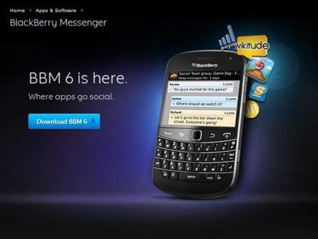 BlackBerry Messenger 6 ya disponible para descargar