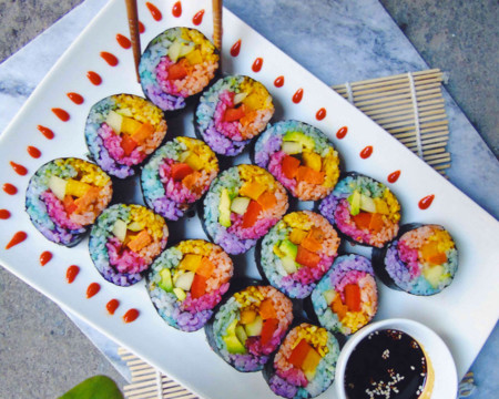 Sushi arcoiris, la nueva tendencia en Instagram