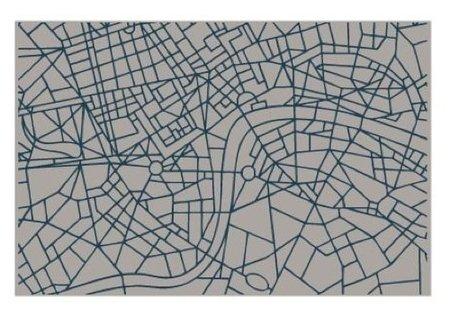 Alfombras que dibujan planos de grandes ciudades