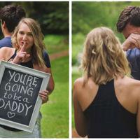 """""""Vas a ser papá"""": la bonita sorpresa de una mujer a su marido en una sesión de fotos"""