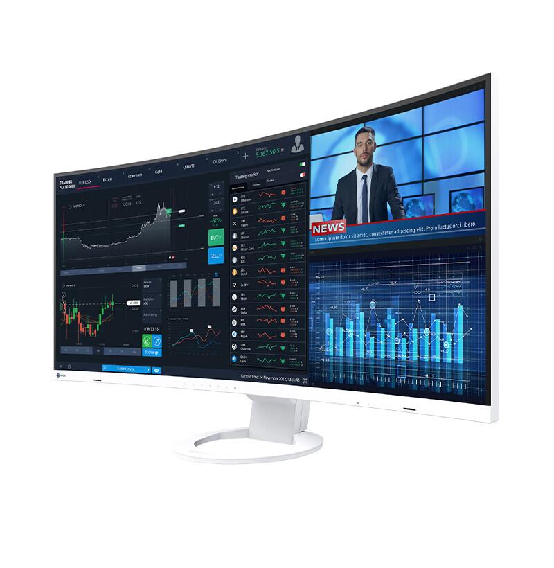 EIZO anuncia el FlexScan EV3895, un impresionante monitor ultrapanorámico con panel IPS curvo de 37,5 pulgadas