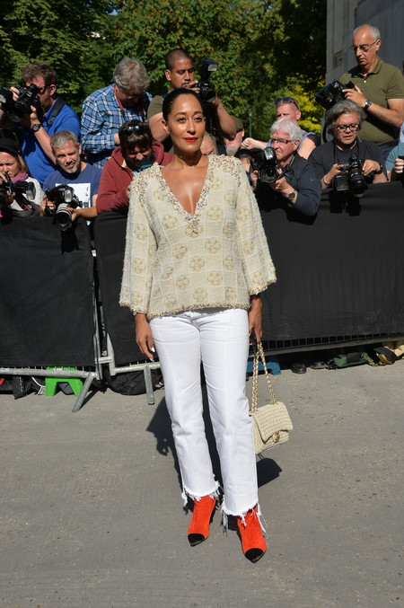 front row chanel alta costura Tracee Ellis Ross