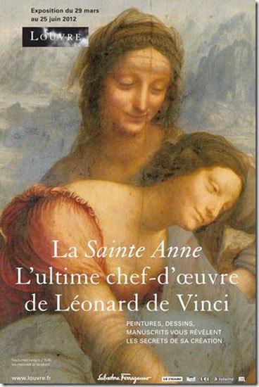 """""""La Santa Ana"""" de Leonardo da Vinci en el Louvre, una exposición patrocinada por Salvatore Ferragamo"""