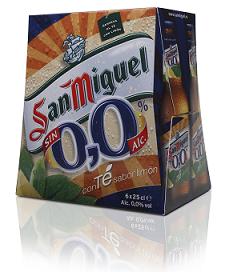 Cerveza sin alcohol con té al limón de San Miguel