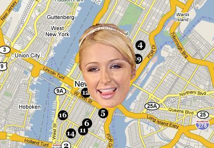 Persigue a Paris Hilton con Google Maps