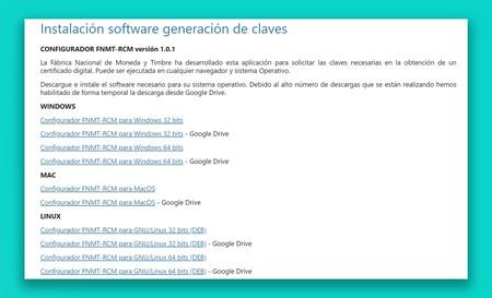 La descarga de la app para solicitar el certificado digital va tan lenta que la FNMT ha tenido que subirla a Google Drive