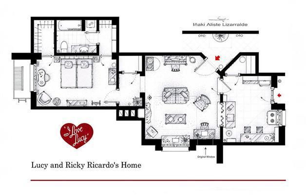 Foto de Planos de apartamentos de series de TV (5/17)