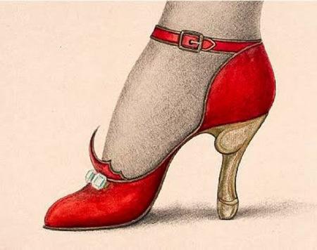 El tesoro de la librería Vrain: una colección de acuarelas que es un verdadero museo portátil del zapato