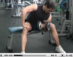 Video-tutorial sobre ejercicios de musculación