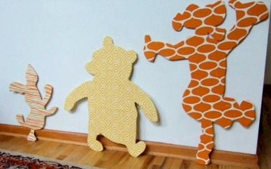 Motivos decorativos hechos en casa para la habitación infantil