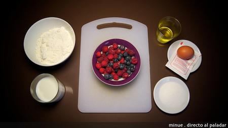 Bizcocho de frutos rojos - ingredientes