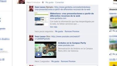 Facebook le pone previsualización de enlaces a los comentarios