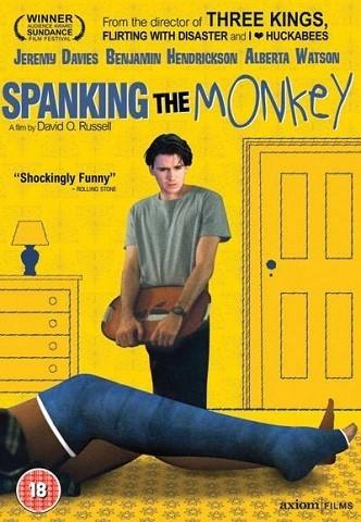 Imagen con el cartel de la película 'Spanking the Monkey'