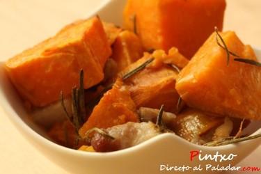 Batatas asadas al romero. Receta