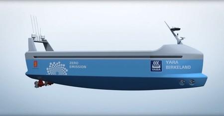 Este buque de carga es totalmente eléctrico y autónomo
