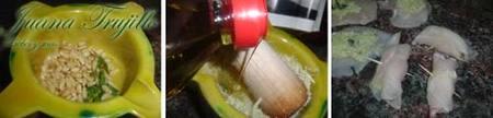 Preparación de los rollitos de pollo al pesto
