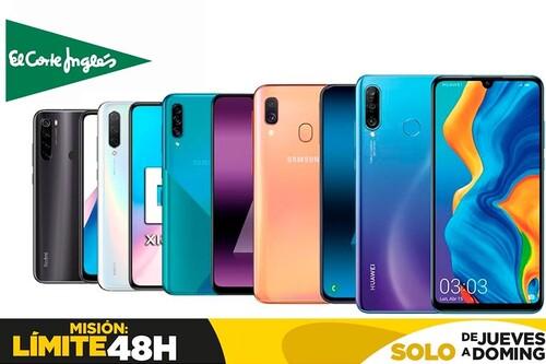 Límite 48 Horas en El Corte Inglés: estos 17 smartphones de Samsung, Xiaomi, OPPO o LG te salen más baratos este fin de semana