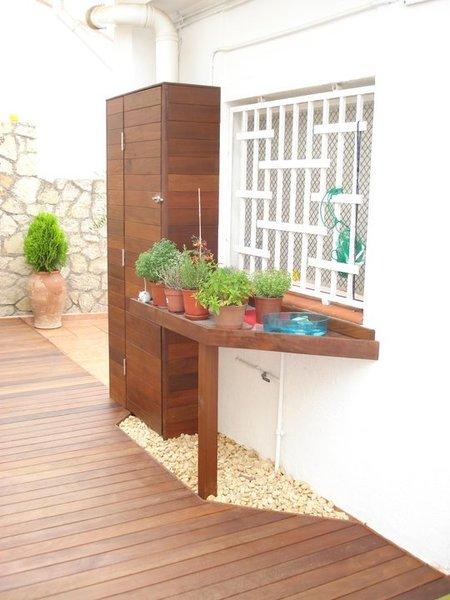 Armarios de madera para la terraza - Armario de plastico para exterior ...