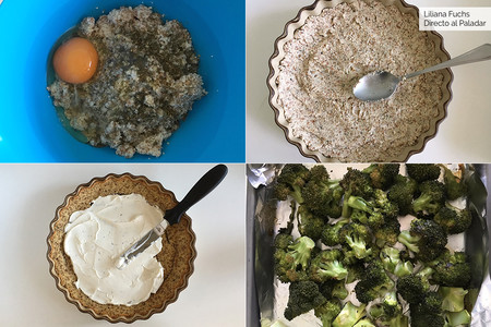 Tarta de Brócoli. Pasos