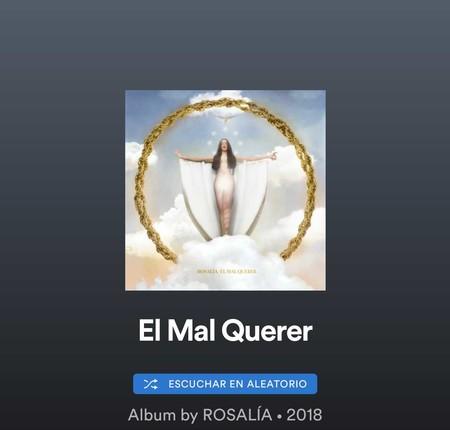 Spotify delega en Twitter la elección del disco del año, pero a lo jíbiri sugiere a Rosalia