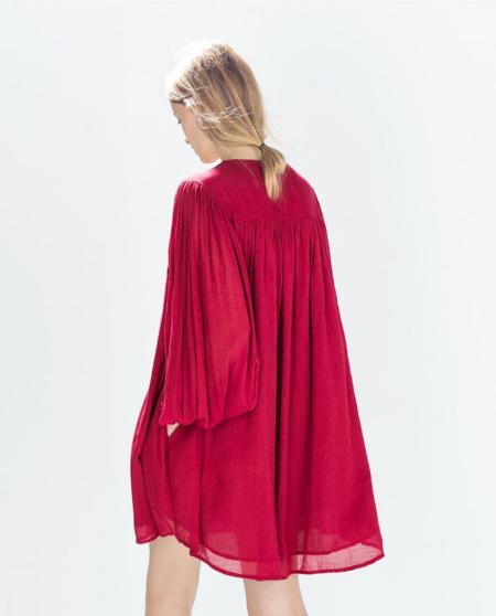 Zara Trf Vestido Abullonado