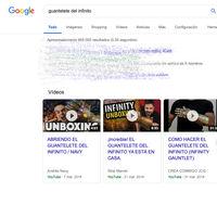 El chasquido del Guantelete del Infinito de Thanos ahora permite eliminar la mitad de los resultados de Google