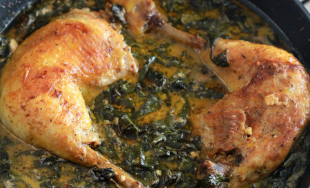 Pollo en salsa de Espinacas