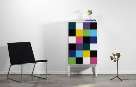 Preciosos muebles de almacenaje multicolor de Sara Larsson para A2