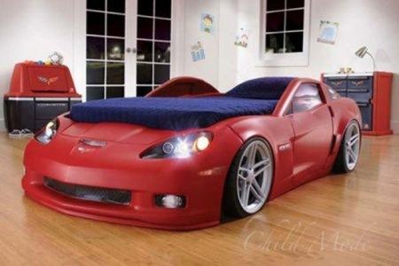 Una idea de lujo, dormir en un Corvette