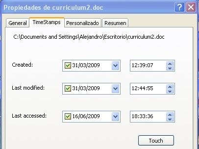 Modifica la fecha de última modificación, creación y último acceso a tus archivos con SKTimeStamp