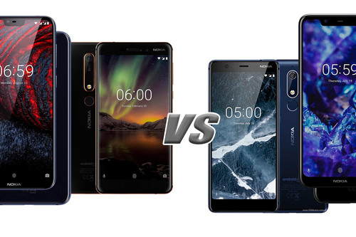Nokia 6.1 Plus vs Nokia 6.1 y Nokia 5.1 Plus vs Nokia 5.1: esto es todo lo que ha cambiado