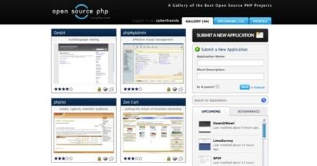 Open Source PHP, galería de proyectos en PHP