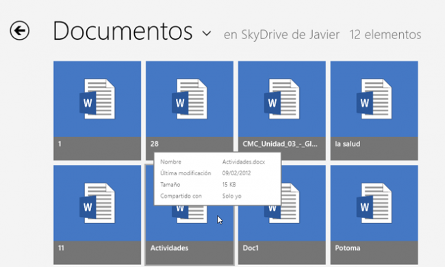 Windows 8 RTM SkyDrive