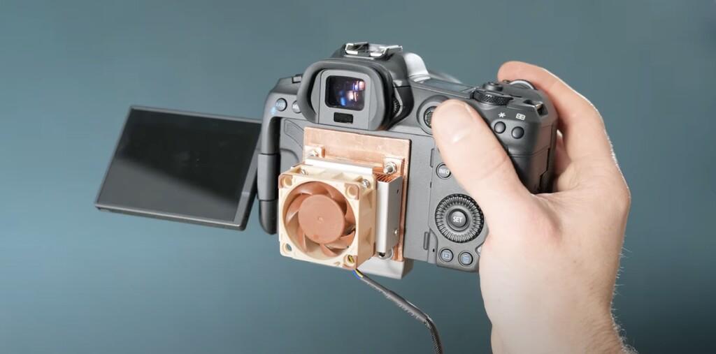 Canon R5 limita la grabación en 8K por sobrecalentamiento, este hack en el sistema de refrigeración hace que grabe indefinidamente