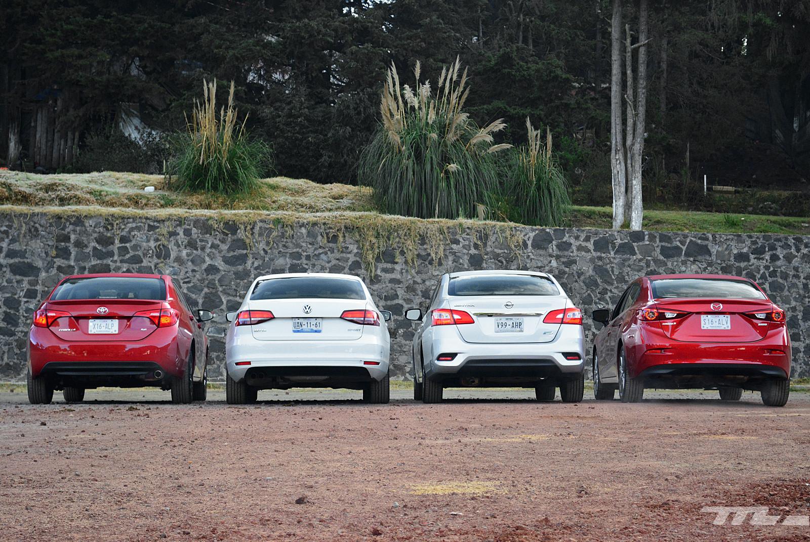 Foto de Comparativa: Mazda3 vs. Nissan Sentra vs. Toyota Corolla vs. Volkswagen Jetta (6/60)