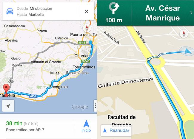 Google Maps 1.0 para iOS