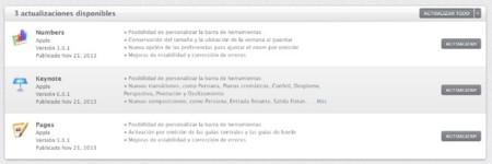Apple actualiza iWork para iOS y OS X, comienza la recuperación de características perdidas