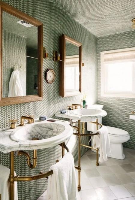 Baños Verde Esmeralda:Cocinas, cuartos de baño , dormitorios o salones, el verde esmeralda