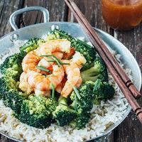 Langostinos con brócoli en salsa agridulce: receta