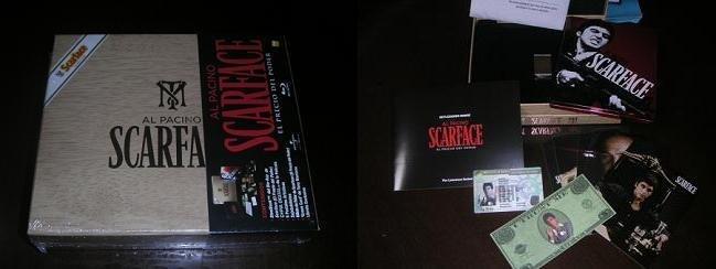 Edición de El precio del poder en bluray con forma de Caja de puros