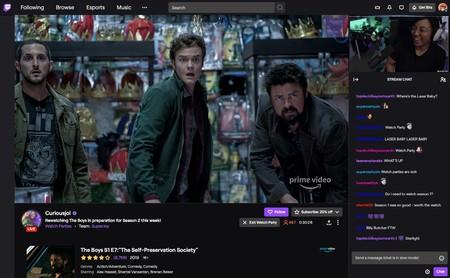 Los streamers de Twitch ya pueden emitir también películas y series, pero necesitarás una cuenta en Prime Video para verlas