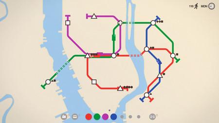 Mini Metro saldrá mañana en PS4 para que podamos diseñar nuestras líneas de transportes desde el sofá