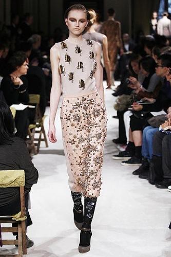 Miu Miu, Otoño-Invierno 2009/2010 en la Semana de la Moda de París, estampados