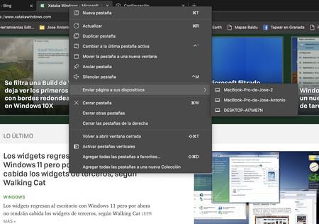 """La función """"Enviar página"""" a otros dispositivos llega a Edge en la versión estable y así puedes usarla"""