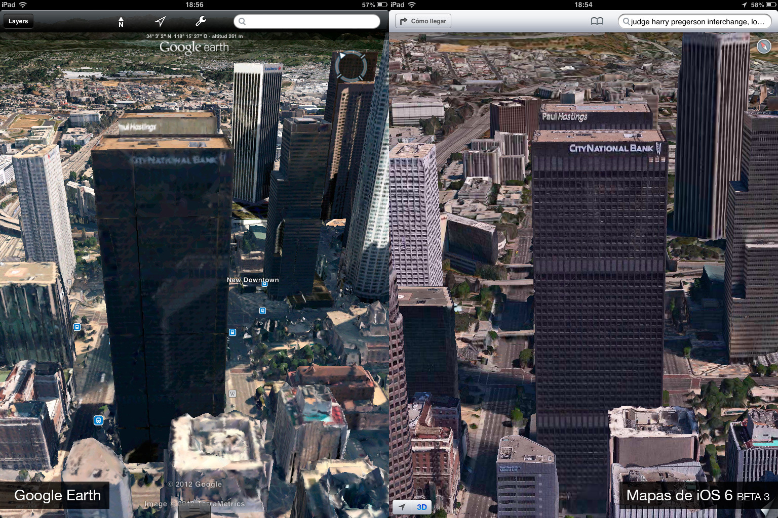 Foto de Google Earth 7.0 contra Mapas de iOS 6 (beta 3) (1/9)