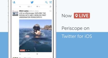 El streaming gana terreno, Periscope se integra de forma nativa a la app de Twitter