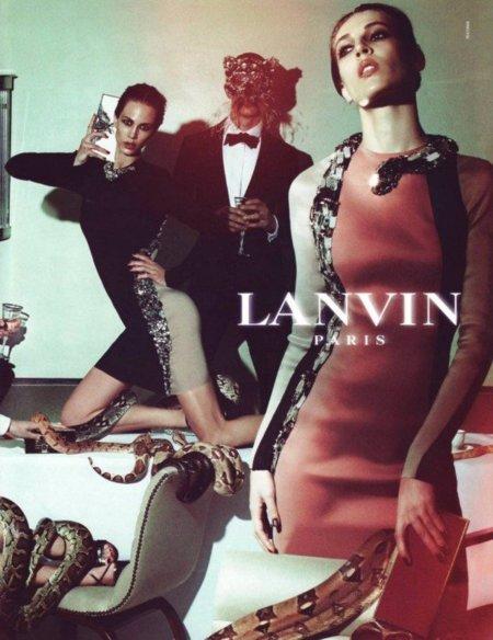La serpiente, la tentación y la gran cena. Campaña Lanvin Verano 2012