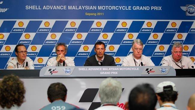 Rueda de prensa tras el GP de Sepang en Malasia