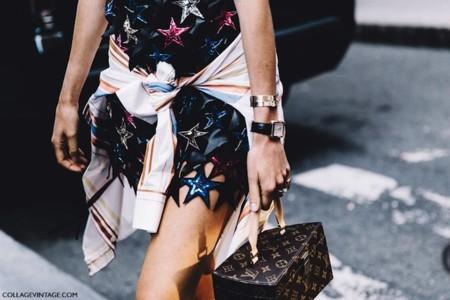 New York Fashion Week Spring Summer 2016 Street Style Leandra Medine Stars Dress Chanel Shoes Louis Vuitton Bag 790x527