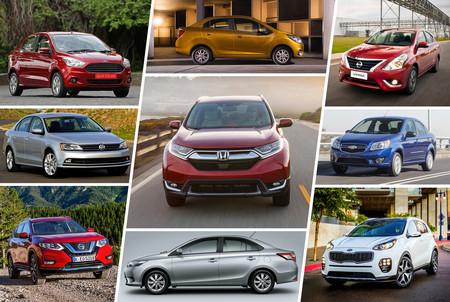 Los 23 autos más vendidos en México en 2017, un año retador para la industria